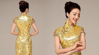 تفسير الفستان الذهبي في الحلم ارتداء فستان ذهبي في المنام